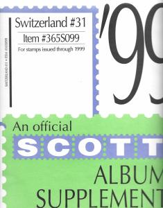 Scott Switzerland #31 Supplement 1999