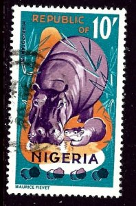 Nigeria 196 Used 1965 Hippo    (ap5431)