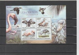 Burundi  Scott#  871  MNH  S/S  (2011 Birds)