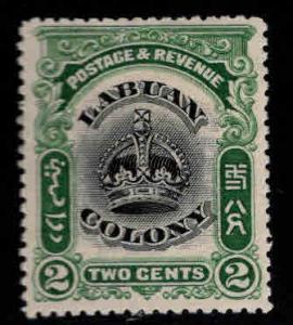 Labuan Scott 100 MH* Crown stamp