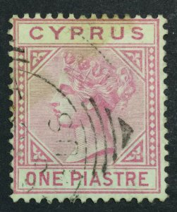MOMEN: CYPRUS SG #12 1881 CROWN CC USED £32 LOT #6978