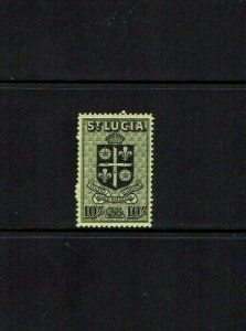 St Lucia: 1938 King George VI definitive, 10/-   Mint never hinged.