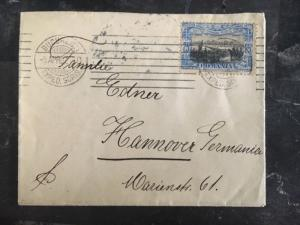 1907 Bucharest Romania Cover To Hannover Germany Stamp # 181