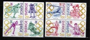 J22910 JLstamps 2 dif 1992 sweden sets mnh #1937-40,1953-6 sports