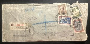 1940 Buenos Aires Argentina Registered Cover To London England Via Air France