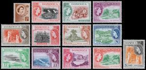 Dominica Scott 142-153, 156 (1954) Mint H F-VF  M