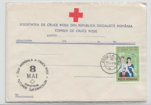 1976 ROMANIA COVER RED CROSS 8 MAY DAY SPECIAL STAMP UNUSED POST