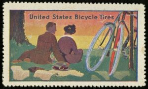 1910s UNITED STATES BICYCLE TIRES Poster Stamp MH