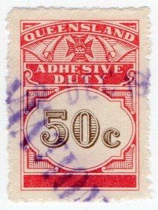 (I.B) Australia - Queensland Revenue : Adhesive Duty 50c