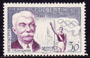 France - 1956 - Scott #817 - used - Sport Coubertin Olympics
