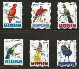 Belgium  (1962)  - Scott # B712 - B717,     MH