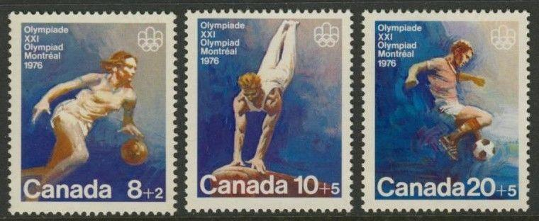Canada B10-2 MNH Olympic Sports, Basketball, Gymnastics, Soccer