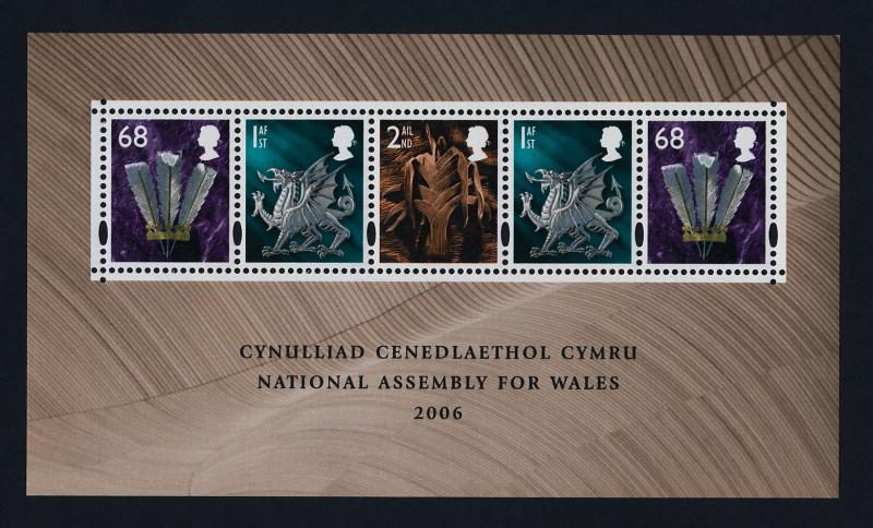Great Britain - Wales 23a MNH National Assembly for Wales, Dragon, Leek
