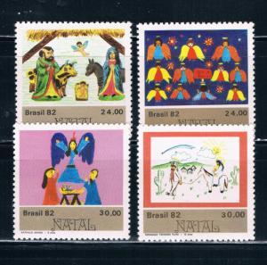 Brazil 1826-29 MNH set Christmas 1982 (B0348)