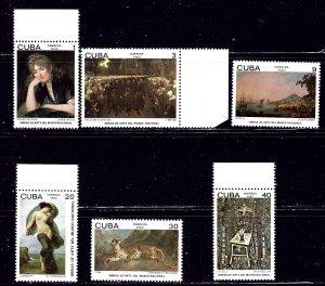 Cuba 2510-15 MNH 1982 Paintings    (ap2022)