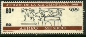 MEXICO C318, 80c 2nd Pre-Olympic Issue - 1966 MNH