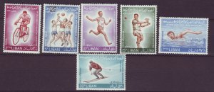 J24051 JLstamps 1964 lebanon set mh #415-7,c385-7 sports