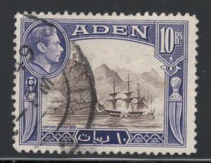 Aden 1939 King George Vi & the Capture of Aden 10r Scott # 27a Used