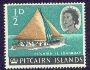 Pitcairn Isl.  39 MNH 1964 1/2p QEII Definitive