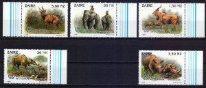 Kinshasa. 1993. 1079-83. Fauna of africa. MNH.