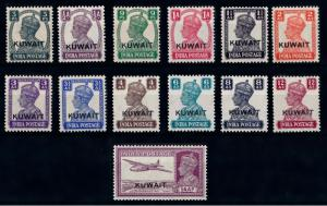 [68336] Kuwait 1945 KG VI Almost MNH, OVP on India Stamps MLH