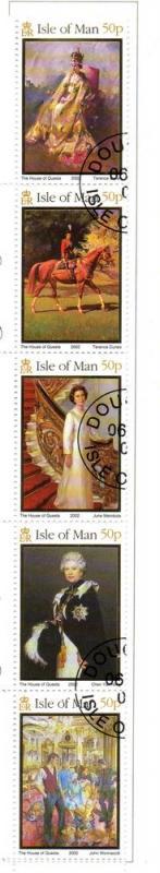 Isle of Man Sc 940 2002 50th Anniv QE II stamp set used