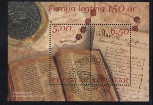 Faroe Islands Sc 422 2002 Representative Council stamp sheet used