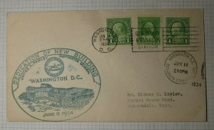 Washington DC Dedication of New Building Postmaster Farley 1934 Event Cover