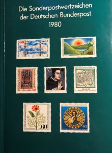 Dt. Bundespost 1980 BRD and Berlin MNH Commemoratives Complete Year in booklet