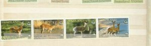 SWAZILAND  SCOTT ANIMALS 698-701 MNH