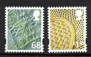 Great Britain Northern Ireland 35-6 2011 68p linen £1.1 china stamp set mint NH