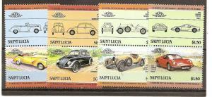 St. Lucia 739-742 MNH