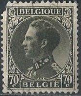 Belgium 262 (used, torn corner) 70c Leopold III, ol black (1935)