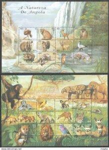 PK171 ANGOLA FAUNA WILD ANIMALS SAFARI ANGOLIAN BIG 2SH MNH STAMPS