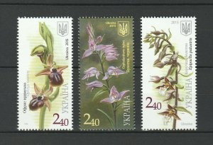 Ukraine 2015 Flowers, Orchids 4 MNH stamps