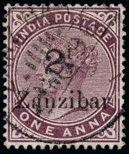 Zanzibar Scott 19 Gibbons 24 Used Stamp