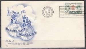 Canada, Scott cat. 356. 8th Scout Jamboree, Blue Cachet,. First day cover.