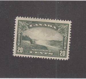 CANADA (MK27) # 225 VF-MH  20cts NIAGARA FALLS / OLIVE GREEN CAT VALUE $25