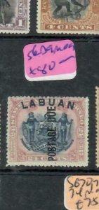 LABUAN (P1811B)   ON NORTH BORNEO 24C POSTAGE DUE  SG D9   MOG
