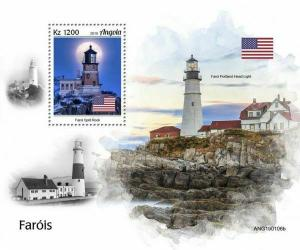 Z08 IMPERF ANG190106b ANGOLA 2019 Lighthouses MNH ** Postfrisch