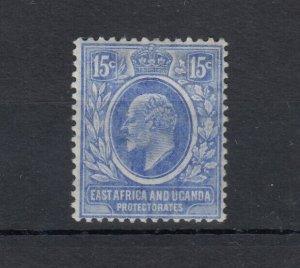 East Africa & Uganda KEVII 15c Blue SG39 MH Cat £32 JK3856