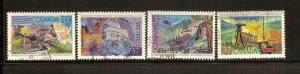 CANADIAN SET ON EXPLORATION OF CANADA -3 #1199-1202 USED STAMPS  LOT#247