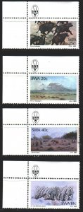 South west africa. 1983. 541-44. Landscapes of Namibia, buffalo. MNH.