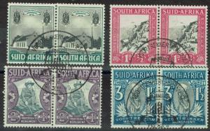 SOUTH AFRICA 1933 VOORTREKKER SET PAIRS USED