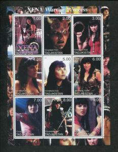 Tajikistan Commemorative Souvenir Stamp Sheet - Xena Warrior Princess