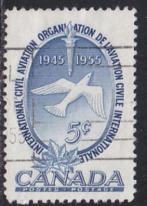 Canada 354 Hinged Used 1955 Dove