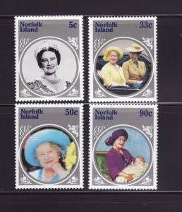 Norfolk Island 364-367 Set MNH Queen Mother