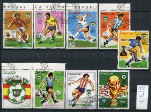 266234 Paraguay 1980 year used stamps set soccer ESPANA 82