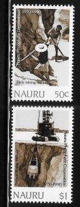 Nauru 1990 Phosphate corp Sc 368-369 MNH A1732