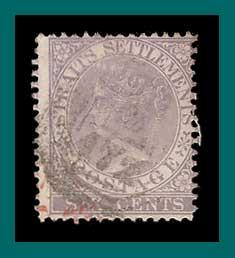 Straits Settlements 1868 Queen Victoria, 6c used  12,SG13